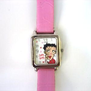 BETTY BOOP Pink Women's Analog 2006  AVON Watch